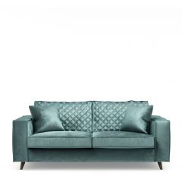 Kendall Sofa 2,5 Seater, velvet, mineral blue
