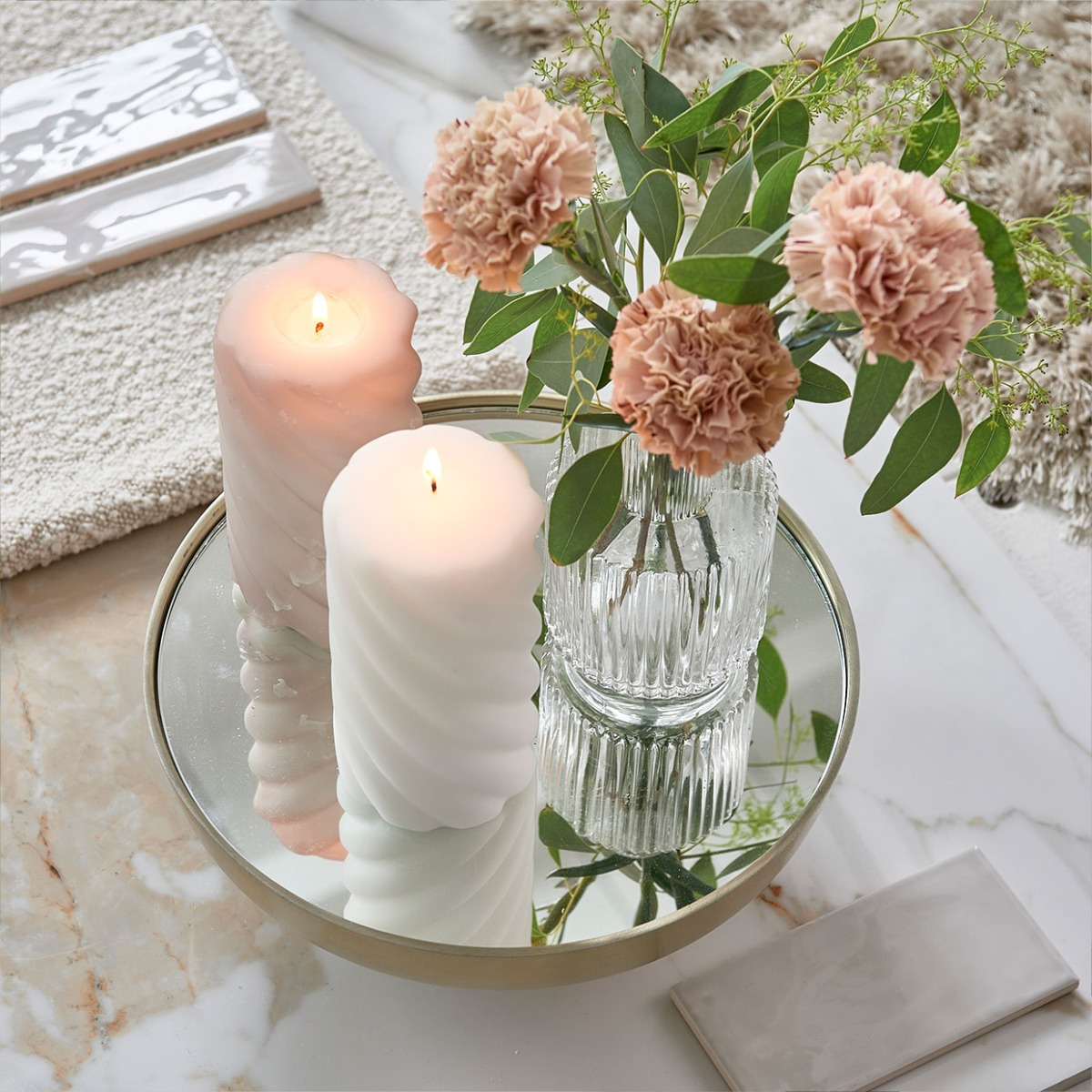 Flowers with candle