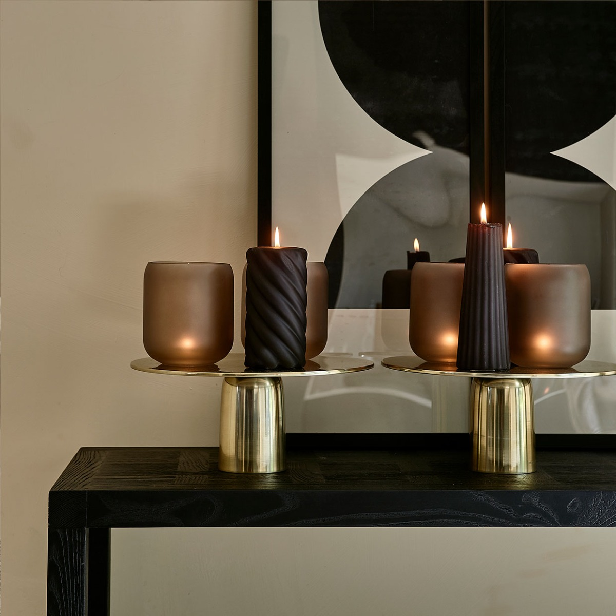 Vintage Glamour table with candles
