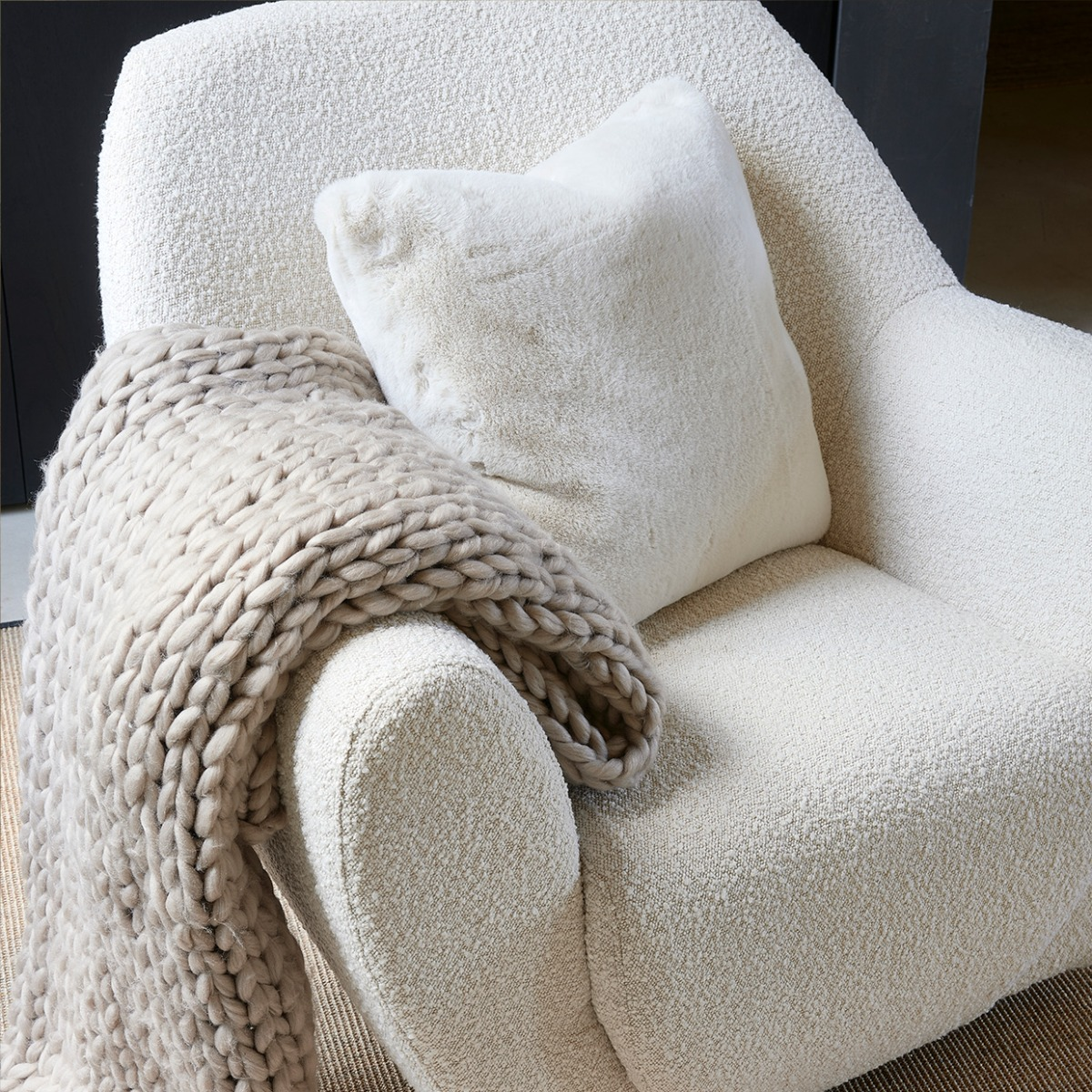 Vintage Glamour Chair with pillow and cloth